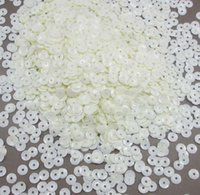 10g / lot (aprox 1000pcs) 6mm Dull decorativo Flake de lentejuelas Confeti 043002002 (30)