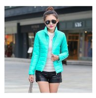 Wholesale 2015 NEW brand new women s sport jacket to keep warm in winter padded silk ladies fashion casual Slim padded winter jacket T