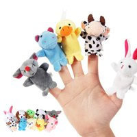 Wholesale fast delivery Family Finger Puppets Cloth Doll Baby Educational Hand Cartoon Animal Toys gift for kids