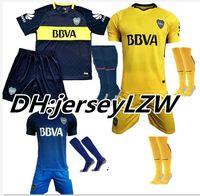 6136c11ce 16 17 18 Boca Juniors soccer uniforms men s short sleeve thai quality soccer  jerseys+Socks Boca blue football wear soccer kit sport sets ...