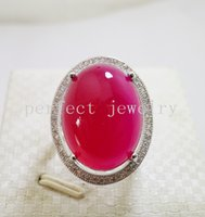 Wholesale Gemstone ring Natural real chalcedony Real red chalcedony sterling silver Fine gemstone jewelry DH