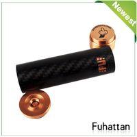 Wholesale Carbon Fiber Fuhattan Mod e cig vapor fuhatten mod mechanical fuhatten mod clone Magnet Bottom e Cig Mods for Battery