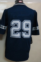 Wholesale New Elite Jerseys Jersey Size Dark Blue White Thanksgiving Stitched Mix Match Order American Football JERSEY