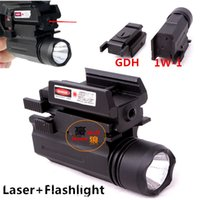 pistol - Tactical Tactical Red Dot Laser Sight LED Flashlight Combo Hunting Laser for Pistol Guns Glock