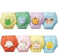Wholesale 2014 Cute Training Pants Reusable Cotton Nappies Washable Layers Baby Children Shorts Baby Underwear BP44 order lt no t