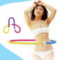 Wholesale PVC Fashion Korean Soft Spring Hula Hoop Elastic Waist Slimming Fitness Abdominal Exercisers
