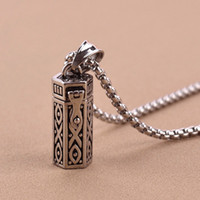 ash holder - Cremation Jewelry Openable Ashes Pendant Urn Keepsake Memorial Vintage Pet Ash Necklace Real Titanium Steel Joyas Ashes Holder GZ202