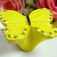 drawer knobs - Children room Resin Butterfly Cupboard Drawer Knob Pulls Drawers Handle creative kitchen cabinet knobs handles