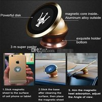 Wholesale The new degree rotating aluminum magnet magnetic cell phone holder cell phone holder car navigation holder magnet