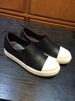 Wholesale 2015 New Arrival Mens Low Cut Loafer Shoes Casual Shoes Genuine Leather Owens Sneakers with Original Box