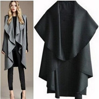 Wholesale cheap Fashion Women winter wool cape coat HOT new cape coat for women