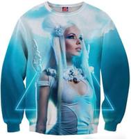 beautiful game characters - L0101 Mikeal Game d hoodies men women print beautiful sexy angel girl d sweatshirt mens Hoodie hoodies tops B1