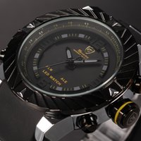 band multiple - Brand New Shark Bezel Swirl Design Men Wristwatch Sport Relogio Digital ATM Waterproof Wrap Silicone Band Casual Wrist Fashion Watch SH168