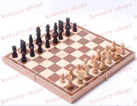 Wholesale Hot Sale Top Quality Wooden Chess Pieces Set Staunton Style Chessmen Collection Portable Folding Board Chesses Game