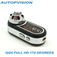 Wholesale 2MP Full HD P P QQ5 Mini Camera Infrared Night Vision DV Camera Camcorder Webcam Wide Angle Motion Detection