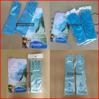 Wholesale Froze Gloves For Kids Adult Full Finger Christmas Gloves For Christmas Froze Cosplay Elsa Anna Gloves Froze Long Gloves Pairs DHL