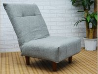 armless chairs - Modern Fabric Japanese Sofa Furniture Single Foldable Sofa Chair Armless Lounge Recliner Living Room Occasional Accent Chair
