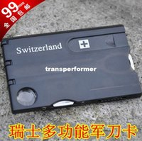 Cheap Swizerland 12 IN 1 Credit Card Tool Knife Blade Business Card Knife Card(OEM) 120 pcs lot