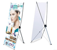 Wholesale 60 CM Portable Advertising Banner Stands Exhibition X Banner Display Racks Advertising display equipment
