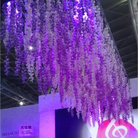 artificial plants for sale - White Artificial Hanging Orchids Plants Fake Silk Flower Vine For Wedding Backdrop Party Decoration Supplies New Hot Sale