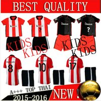 Tailandia Qu 15-16 niños Athletic Bilbao Inicio jerseys ausentes del kit de los uniformes del fútbol de los niños Los niños LaPorte jerseys de fútbol