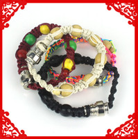 Wholesale Hot sale new design Colored Hemp Pipe Bracelets for Discreet smoking use Paracord Pipe Bracelets