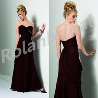 Cheap 2015 Graceful Chiffon Bridesmaid Dresses With Sweetheart Neckline Sleeveless Ruched Backless Floor-Length Prom Dress Evening Gowns