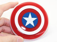 american devices - Qi Charger Captain American Wireless Charging Pad Mat Wireless Charge Transmitter for Android IOS Devices Retail Package