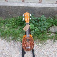 Wholesale 21 inches basswood pineapple shape Hawaii ukulele for kid jhb004