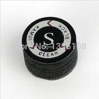 Wholesale pc Soft New Design Black Crystal gasket Kamui tip ball mm Pigskin Pool Billiard Cue Stick Tip