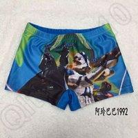 Cheap 25PCS HHA612 New kids star wars swim trunks children boys swimsuit kids beachwear cartoon Darth vader swimwear trunks