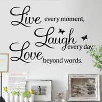 wall quotes - Hot LIVE LAUGH LOVE Encouraging Quote Poem Art Wall Sticker Decal Home Decor