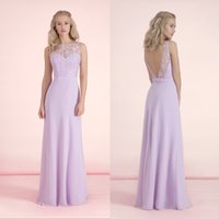 aqua bows - Lavender Illusion Lace Long Aqua Bridesmaid Dresses Spring Backless Mermaid Chiffon Elegant Scoop Bridal Party Gown Groups Floor Length