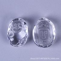 Wholesale Carved natural white crystal Buddha Guanyin evil security and peace of body factory outlets