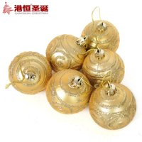 face painting supplies - Christmas tree decorations cm gold matte bronzing printing face painting Christmas ball g styrofoam balls ornament party supplies
