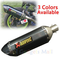 Wholesale Modified Motorcycle Exhaust Pipe Muffler CBR CB400 CB600 CBR1000 Z750 Z800 Z1000 ER6N MAX500 Akrapovic Carbon Fiber Exhaust A3