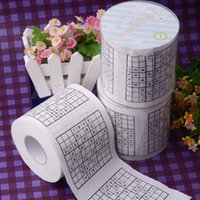 Wholesale creative funny novelty personalized cool printed toilet paper tissue rolls patterned Sudoku game web Numbers Puzzle