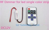 Wholesale RF Remote Controller H3 R DC V Keys Mini Dimmer for Led Single Color Strip