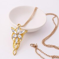 vintage ring - The Lord Of Rings Elf Princess Arwen Twilight statement necklaces women alloy vintage Star rhinestone pendent Jewelry Cheap necklaces Silver