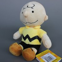 anime collection stuffed toys - 2015 High Quality Anime Peanuts Charlie Brown Little Cute Boy Plush Stuffed Toy Doll for Baby Birthday Christmas Gift Doll Collection