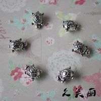 Wholesale Silver Tone Turtle Charms Beads Fit Charm Bracelets x13mm B03793