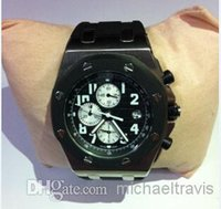 Cheap 2014 christmas gift mens rubber quartz movement stopwatch man royal oak chronograph offshore original clasp mens watches wristwatch