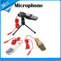 Wholesale Wired Stereo Condenser Microphone with Holder Clip for Chatting Singing Karaoke PC Laptop SF