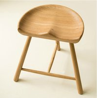 american furniture designers - Nordic furniture completely solid wood white oak stool American country style stool Nordic creative designer stool