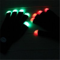 Wholesale LED Gloves Flashing Gloves hot selling LED flash gloves Concert noctilucent gloves Christmas Halloween Party Decoration Novelty Toys
