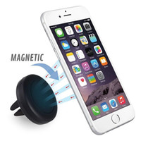Wholesale Car Mount Magnetic Air Vent Universal Mobile Cell Phone Holder for Any Smartphone including iPhone Plus Samsung Galaxy S6 S5 Edge Note
