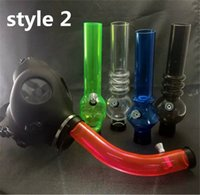 Wholesale Mask bongs Gas Mask Water Pipes Workplace Safety Supplies Sealed Acrylic Hookah Pipe Vaporizer Filter Smoking Pipe HJ0001a