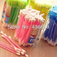 Wholesale packs per pack Soft and Hygienic Cosmetic Cotton Bud Double Head Cotton Swab Medical Swab