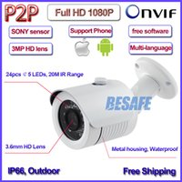 axis security cameras - HD P Bullet security cctv ip camera IP66 surveillance waterproof ip camera mp with Axis bracket IR CUT MP lens LED
