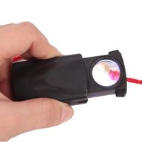 Wholesale LED Light Jewelry MM Loupe Magnifier times x Magnifying Glass Fold Pull Type Hot Selling